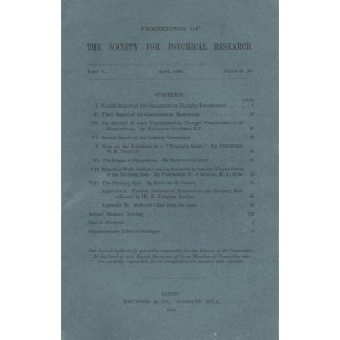 Proceedings of the Society for Psychical Research (1884-1892)