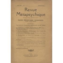 Revue Métapsychique 1927 - 1928
