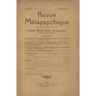 Revue Métapsychique 1927 - 1928 - 1927, No 1 - Jan-Feb