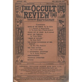 The Occult Review (Ralph Shirley) (1922)