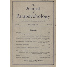 The Journal of Parapsychology 1945 December