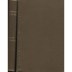 Journal of the Society for Psychical Research, bound volume 1899 - 1900