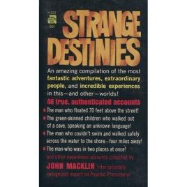 Macklin, John: Strange destinies (Pb)