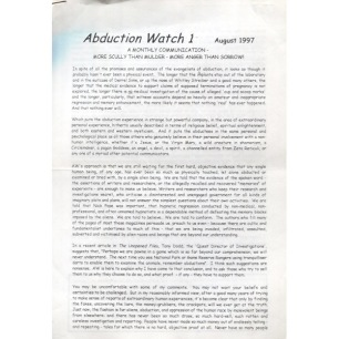 Abduction Watch (1997-2000) - 1 - Aug 1997