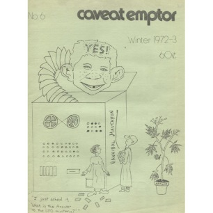 Caveat Emptor (1972-1974), first series - No 6 - Winter 1972-1973