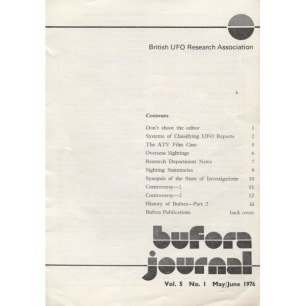BUFORA Journal (1976 -1977, volume 5) - 1976, Vol 5 No 1 May/June