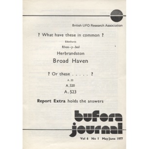 BUFORA Journal (1977 - 1978 volume 6) - 1977, Vol 6 No 1 May/June (brown spots on cover)