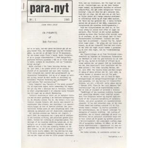 Para-nyt (1987-1995) - 1985 no 1 A4 7 pages