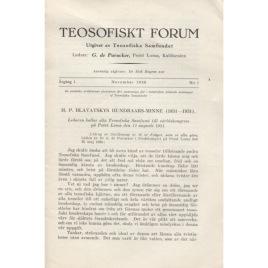 Teosofiskt Forum (1930-1935)