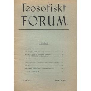 Teosofiskt Forum (1936-1941) - 1937 vol 6 no 1