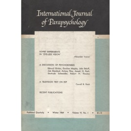 International Journal Of Parapsychology (1964-1968)