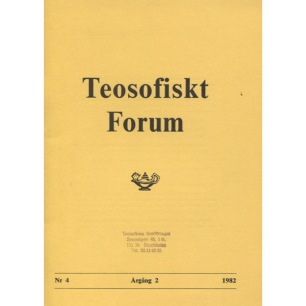 Teosofiskt Forum (1982-1986) - 1982 vol 2 no 4