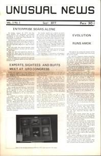 Unusual News (1977-1978) - 1977 Vol 1 No 01