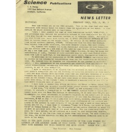 Science Publications/S.P Newsletter (1963)