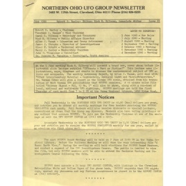 Northern Ohio UFO Group Newsletter/UFO Journal (1980-1982)