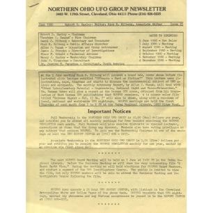 Northern Ohio UFO Group Newsletter/UFO Journal (1980-1982) - 1980 No 23