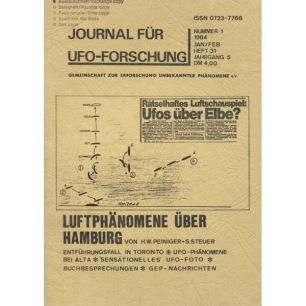 Journal für UFO-Forschung (1984-1989) - 31 - 1/84 - Jahrg 5