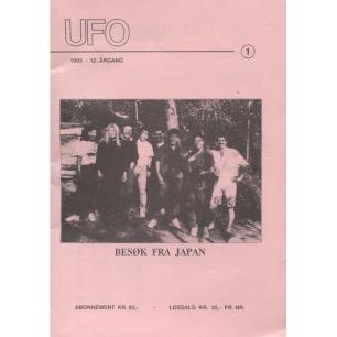 Ufo Norge (1993-1997) - 1993 Vol 12 No 1