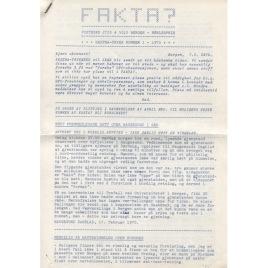 Fakta? Ekstra-trykk/Newsletter (1970-1971)