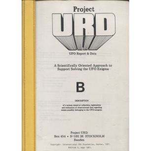Project U.R.D: B. A scientifically oriented approach to support solving the UFO enigma. - Plastic folder binder