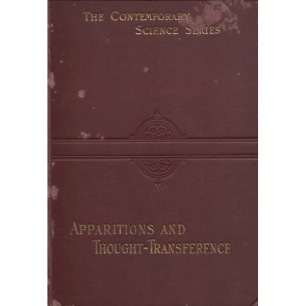 Podmore, Frank: Apparitions and thought-transference: an examination of the evidence for telepathy. - Good, underlines (lead pencil)