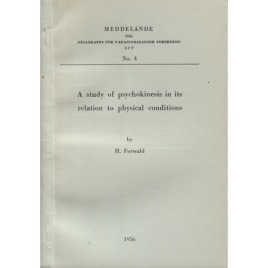 Forwald, H: A study of psychokinesis in its relation to physical conditions