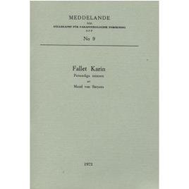 Steyern von, Maud: Fallet Karin, personliga minnen