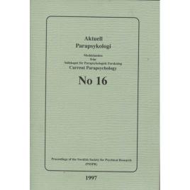 Brusewitz, Göran (red): Meddelande från Sällskapet För Parapsykologisk Forskning; Proceedings of the Swedish Society for Psychical Research (PSSPR) SPF No 16 (Sc)