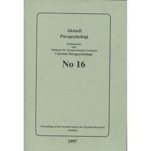 Brusewitz, Göran (red): Meddelande från Sällskapet För Parapsykologisk Forskning; Proceedings of the Swedish Society for Psychical Research (PSSPR) SPF No 16 (Sc) - Good