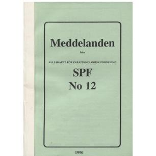 Brusewitz, Göran (red): Meddelande från Sällskapet För Parapsykologisk Forskning SPF No 12 (Sc) - Good