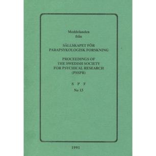Brusewitz, Göran (red): Meddelande från Sällskapet För Parapsykologisk Forskning; Proceedings of the Swedish Society for Psychical Research (PSSPR) SPF No 13 (Sc) - Good