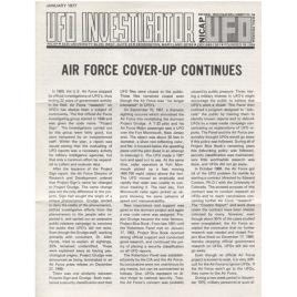 U.F.O. Investigator (1977-1980)