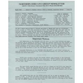 Northern Ohio UFO Group Newsletter/UFO Journal (1980-1982)