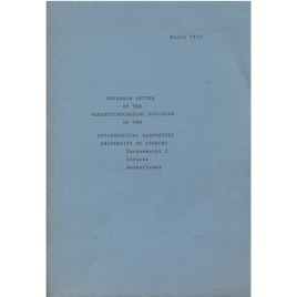 Research Letter Of The Parapsychological Division Of The Psychological Laboratory (1972-1984)