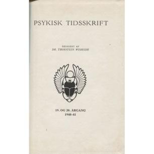 Psykisk Tidskrift (1941) - 1941 No 19 Vol 20