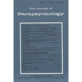 Journal of Parapsychology (the) (1974-1982)
