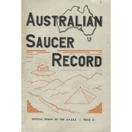Australian Saucer Record (1956-1963)