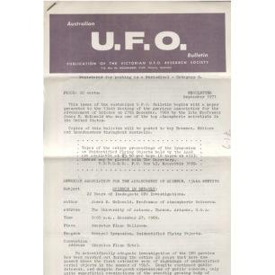 Australian UFO Bulletin (1969-1986) - 1971 Sep (6 pages)