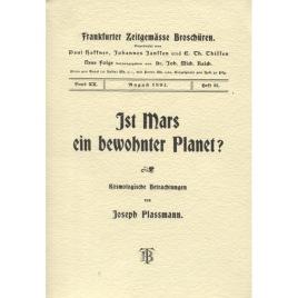 Plassman; Joseph: Ist Mars ein bewohnter planet? Kosmologische Betrachtungen (Sc)