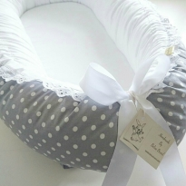 NEW! Removable Cover, Grey with white dots