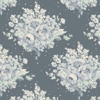 Tilda Floral Dark grey blue with light grey fabric inside
