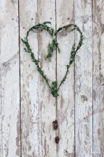 Enkel hjärtformad krans - Enkel krans