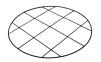 Växtstöd - Nät till pionstöd- mått(Ø =54cm)