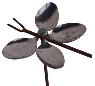 Växtstöd, Fjäril & trollslända - Växtstöd, Fjäril- mått(b=14-20cm, h=110cm)