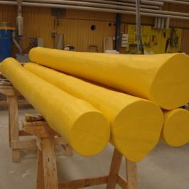 Kalibreringsstock Sågverk. Handupplagd med delad form. Ihålig.