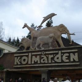 Entréskylt Kolmårdens djurpark