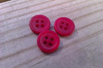 Rödmelerad knapp, liten -