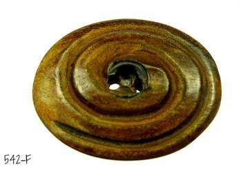 Oval knapp i horn -