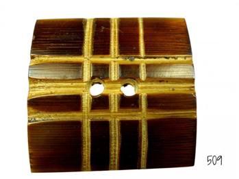Fyrkanting handgjord träknapp -