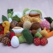 Stickade grönsaker-mönsterhäfte